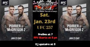 McGregor VS Poirier 2 @ Sidelines