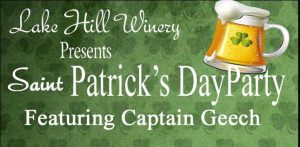 St. Patty's Day Party @ Lake Hill Winery